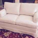 Reupholstered love seat, Bay Area upholstery, serving Contra Costa County
