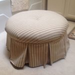 Upholstered ottoman, Bay Area upholstery, serving Contra Costa County