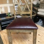 leather table chair